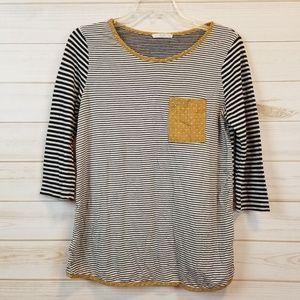 Le Lis stitch fix 3/4 sleeve striped top size S